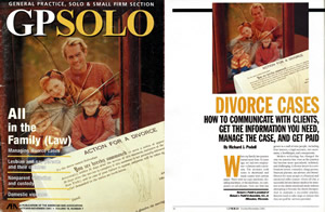 Top Divorce Attorney in Milwaukee, Richard J. Podell Featured in GPSOLO